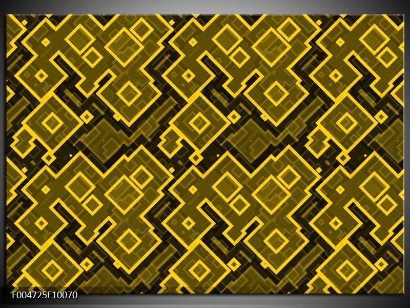 Glas schilderij Modern | Geel, Zwart