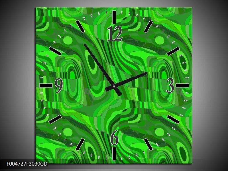 Wandklok op Glas Modern | Kleur: Groen | F004727CGD