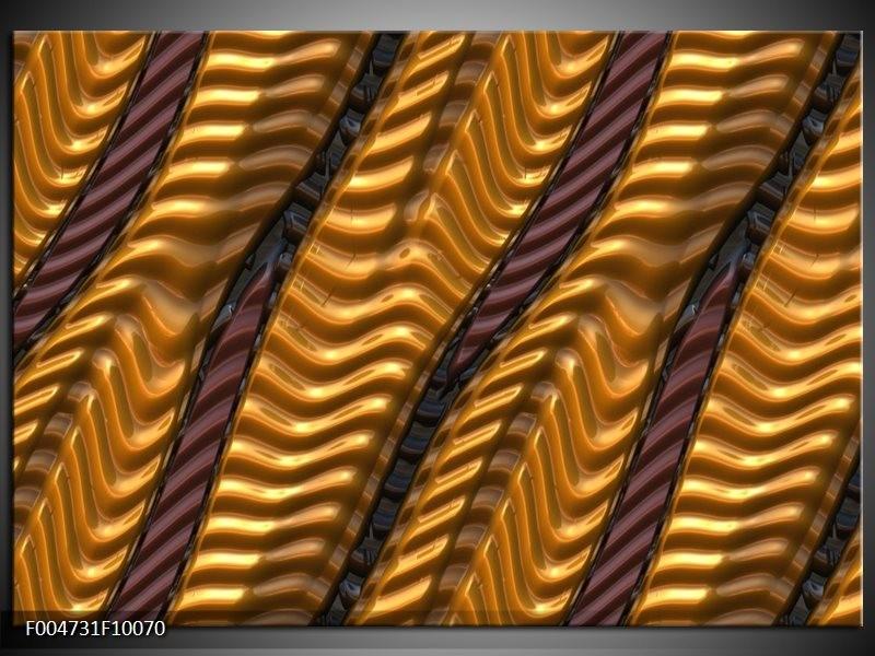 Glas schilderij Modern   Geel, Bruin