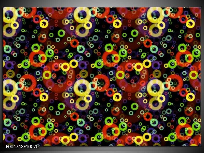 Glas schilderij Modern | Geel, Groen, Rood
