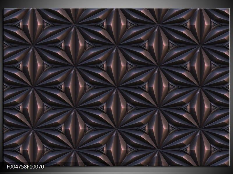 Glas schilderij Modern   Bruin, Zwart