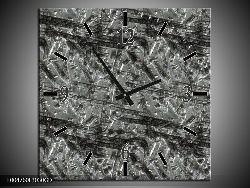 Wandklok op Glas Modern | Kleur: Grijs | F004760CGD
