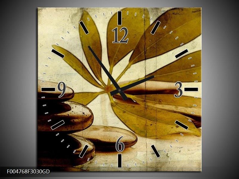 Wandklok op Glas Spa | Kleur: Bruin, Zwart | F004768CGD
