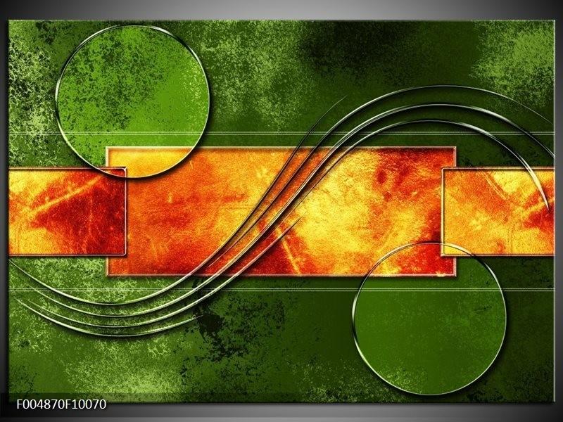 Glas schilderij Modern | Oranje, Geel, Groen