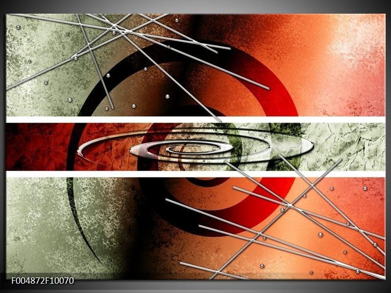 Glas schilderij Modern | Rood, Grijs, Wit