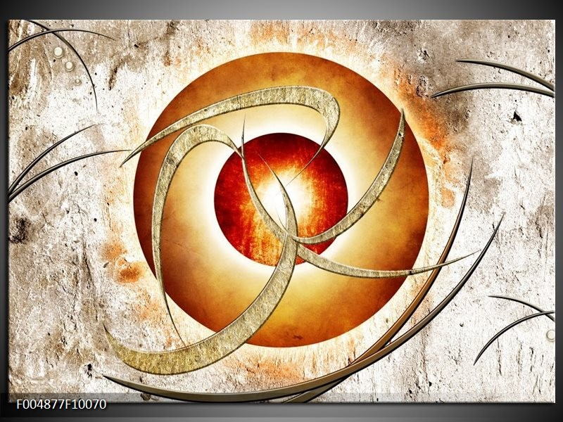 Glas schilderij Modern | Wit, Oranje