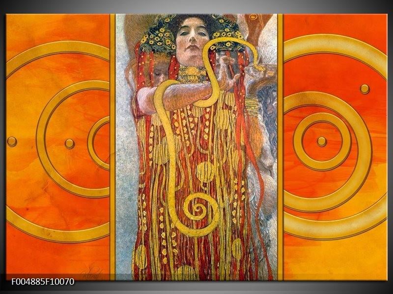 Glas schilderij Modern   Geel, Bruin, Zwart