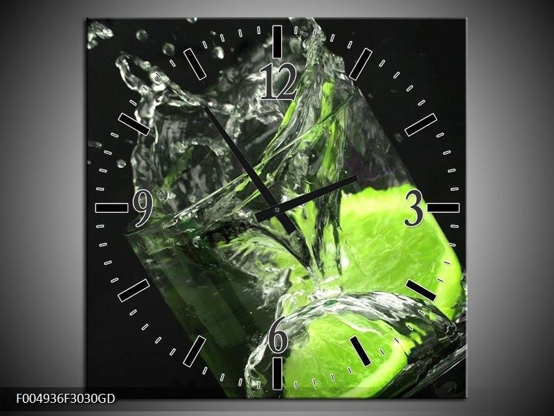 Wandklok op Glas Keuken | Kleur: Groen, Wit, Zwart | F004936CGD