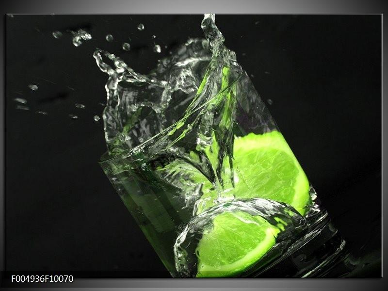 Glas schilderij Keuken | Groen, Wit, Zwart
