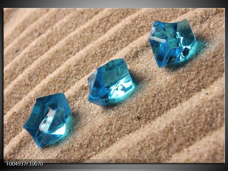 Glas schilderij Spa   Blauw, Bruin