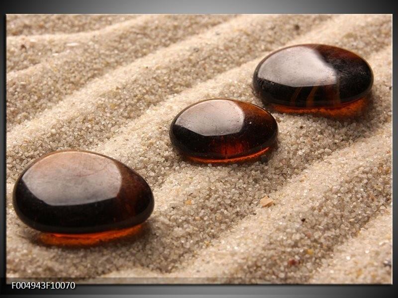 Glas schilderij Zand | Bruin