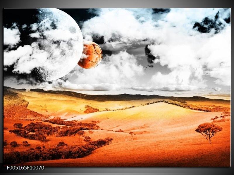 Glas schilderij Natuur | Rood, Bruin, Grijs