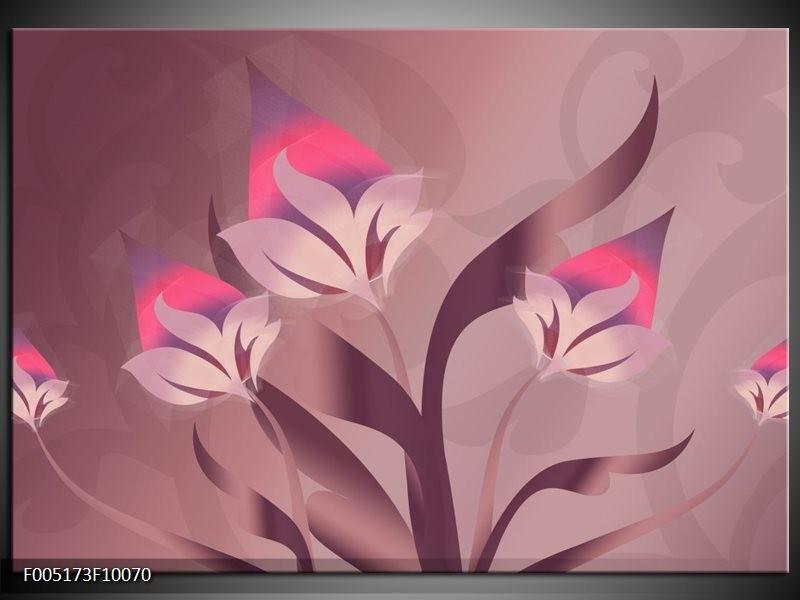 Glas schilderij Modern | Paars, Roze