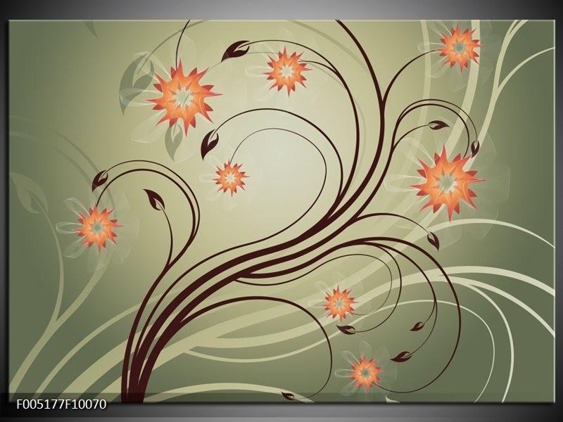 Glas schilderij Modern | Bruin, Oranje