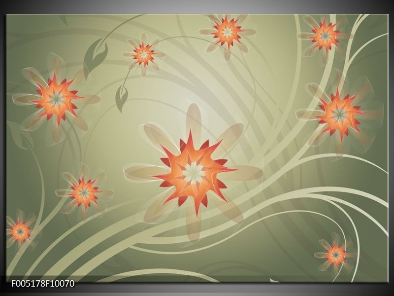 Glas schilderij Modern | Bruin, Oranje, Grijs