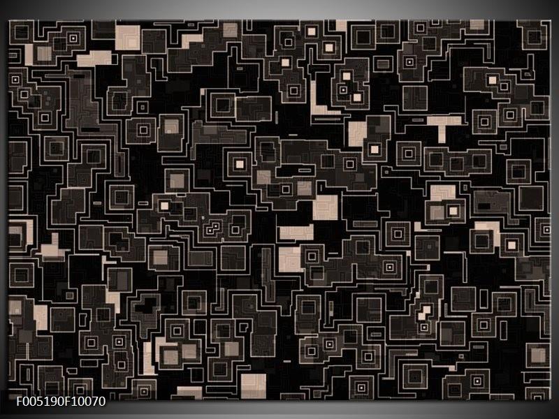 Glas schilderij Modern | Zwart, Grijs