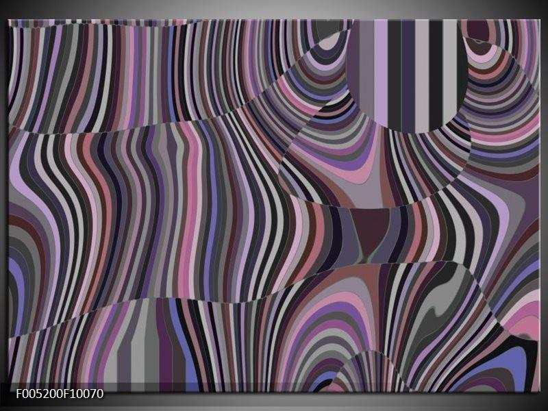 Glas schilderij Modern | Zwart, Grijs, Paars