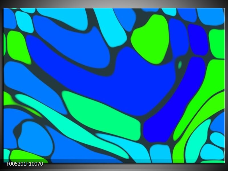 Glas schilderij Modern   Blauw, Groen