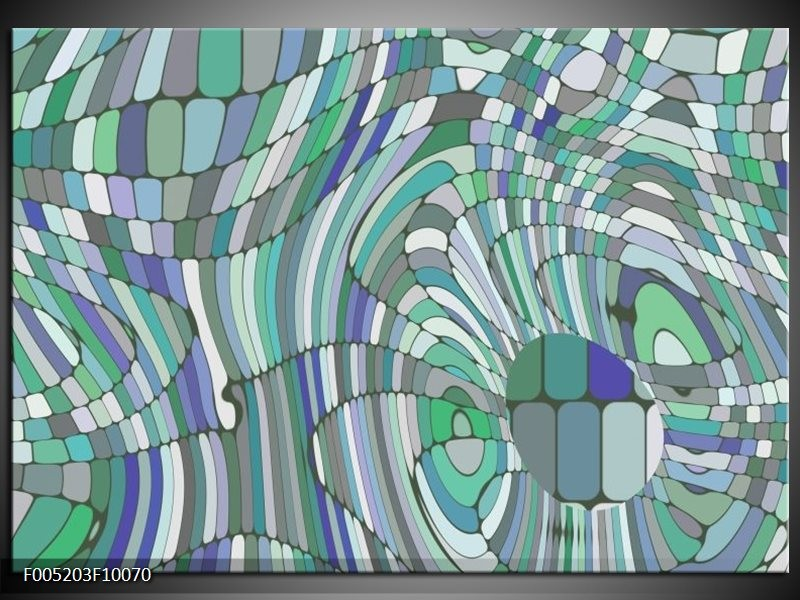 Glas schilderij Modern | Groen, Blauw