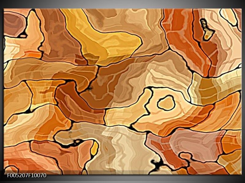 Glas schilderij Modern | Bruin, Geel