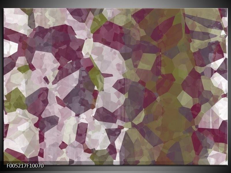 Glas schilderij Modern   Wit, Paars, Groen