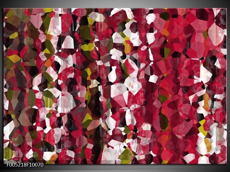Glas schilderij Modern | Rood, Wit, Geel