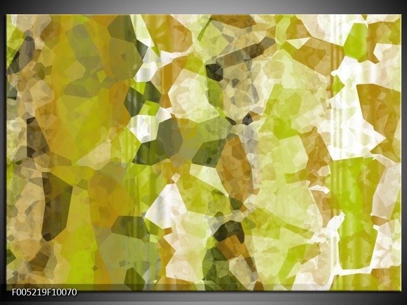 Glas schilderij Modern | Geel, Groen