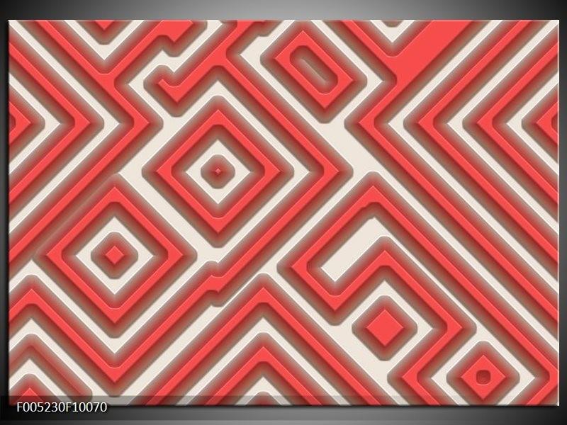 Glas schilderij Modern | Rood, Wit, Grijs
