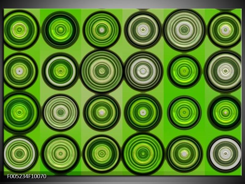 Glas schilderij Modern | Groen, Grijs, Zwart