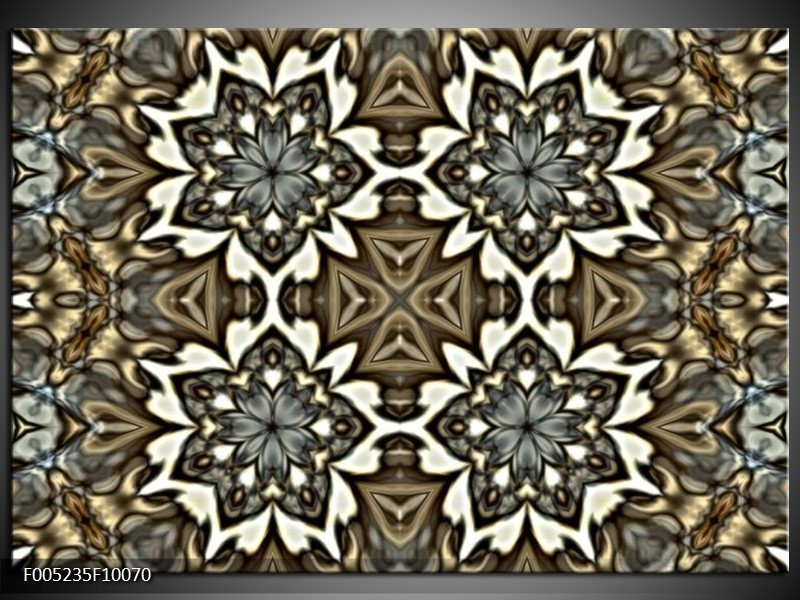 Glas schilderij Modern | Grijs, Wit