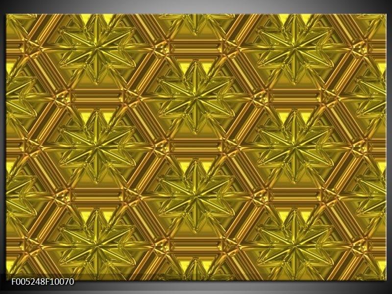 Glas schilderij Modern | Geel, Goud