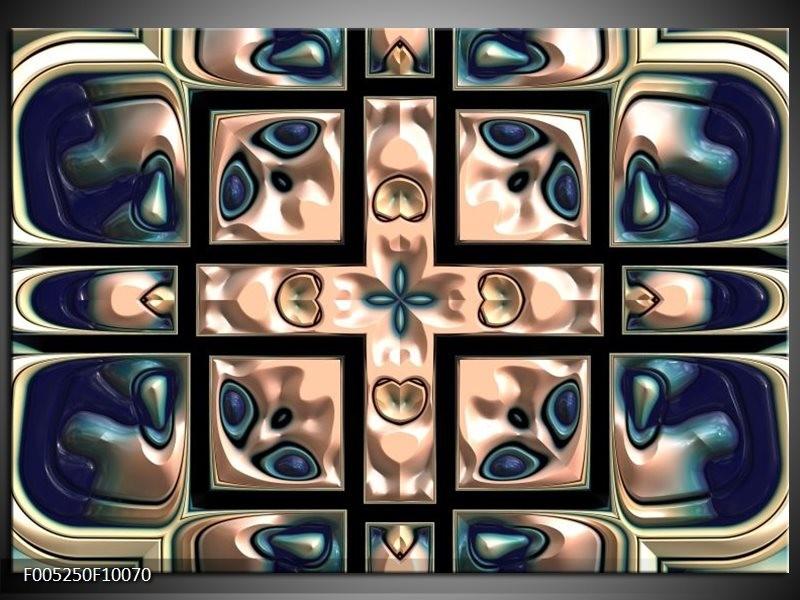 Glas schilderij Modern | Blauw, Wit