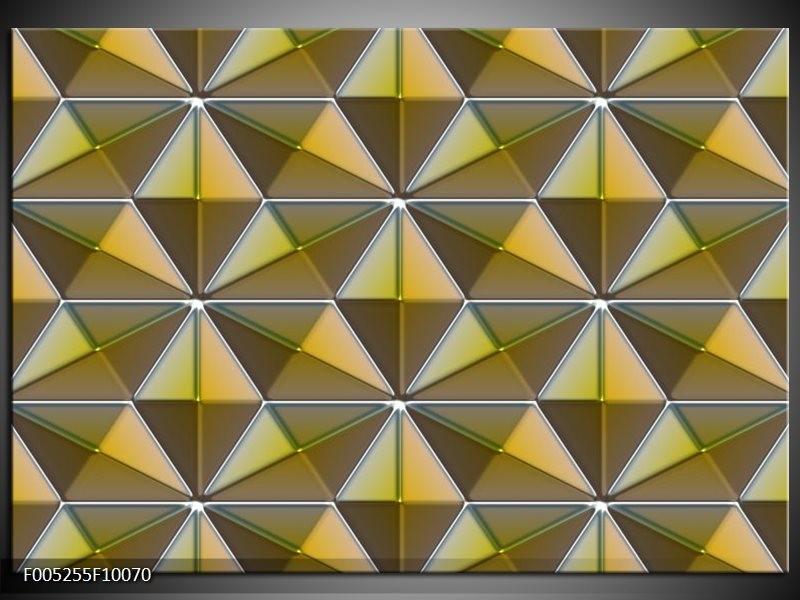 Glas schilderij Modern | Geel, Groen, Grijs