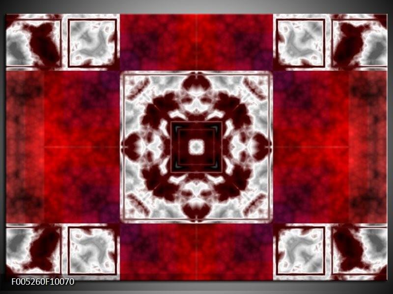 Glas schilderij Modern   Rood, Wit