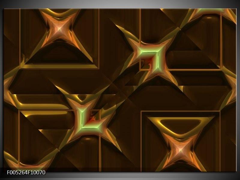Glas schilderij Modern   Geel, Bruin, Goud
