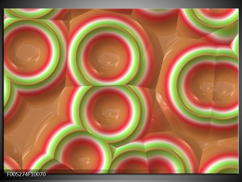 Glas schilderij Modern | Groen, Rood, Bruin