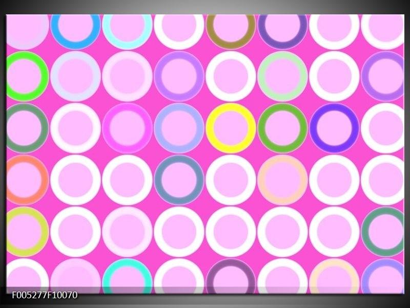 Glas schilderij Modern | Paars, Wit, Groen