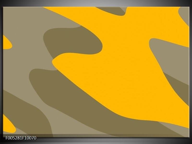Glas schilderij Modern | Geel, Grijs