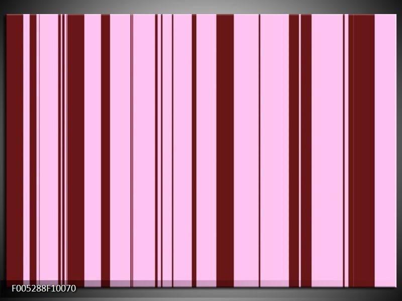 Glas schilderij Modern   Bruin, Roze