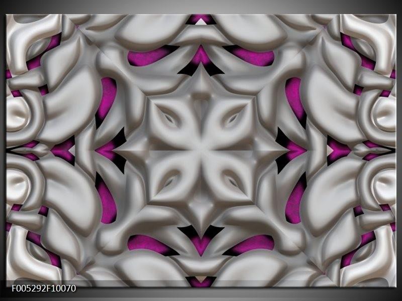 Glas schilderij Modern | Grijs, Paars