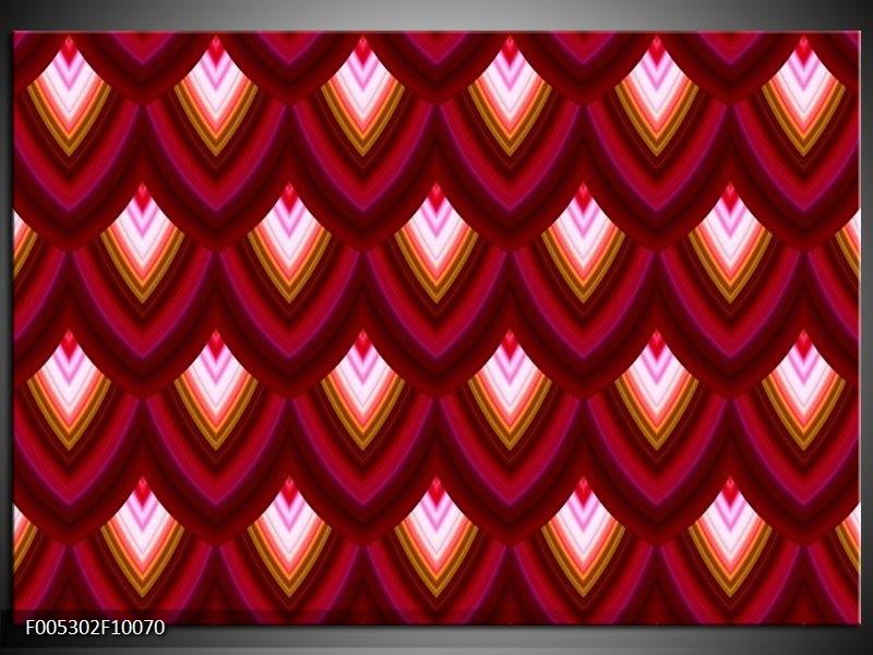 Glas schilderij Modern | Rood, Bruin, Grijs