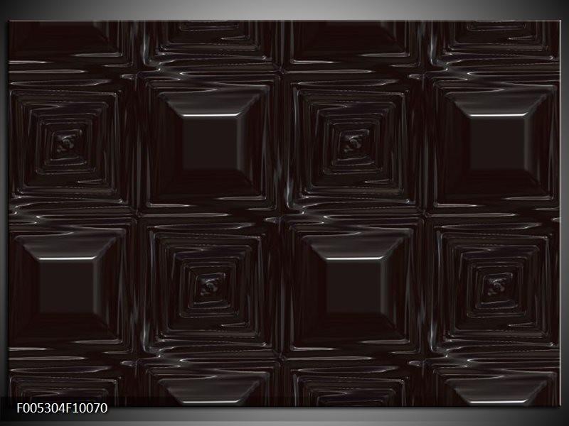 Glas schilderij Modern | Zwart