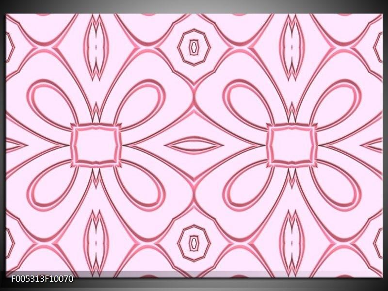 Glas schilderij Modern   Roze, Grijs