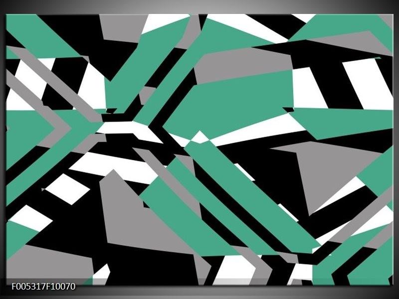 Glas schilderij Modern | Groen, Wit, Grijs