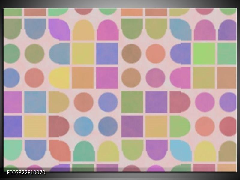 Glas schilderij Modern | Roze, Blauw, Groen