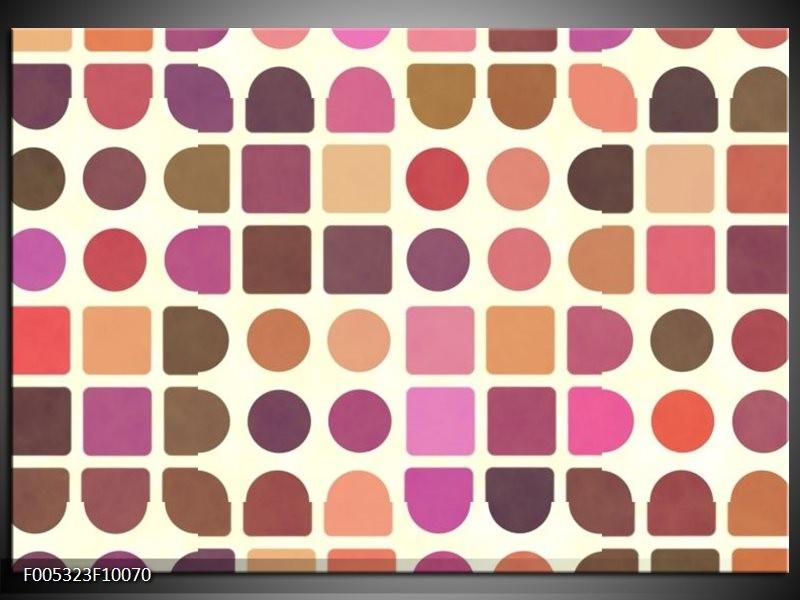 Glas schilderij Modern | Bruin, Paars, Roze
