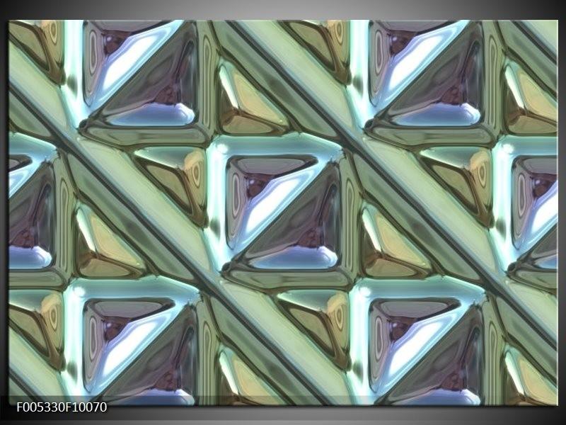Glas schilderij Modern   Grijs, Groen, Wit