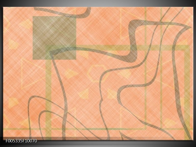 Glas schilderij Modern | Geel, Bruin