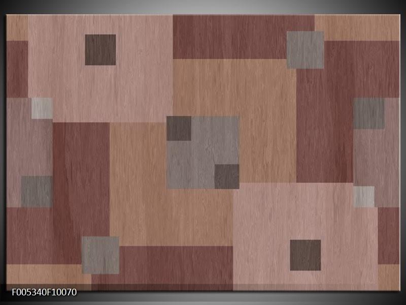 Glas schilderij Modern   Bruin, Grijs