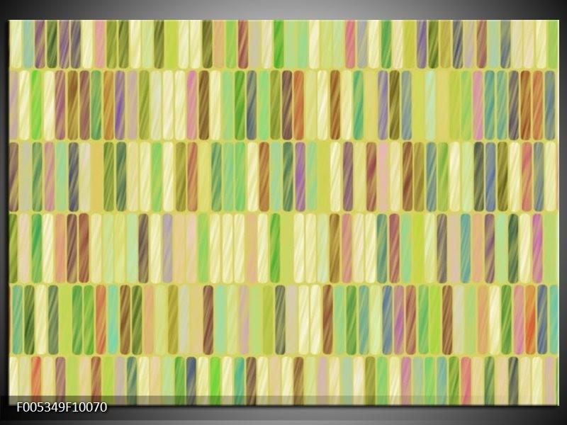 Glas schilderij Modern   Groen, Blauw, Geel